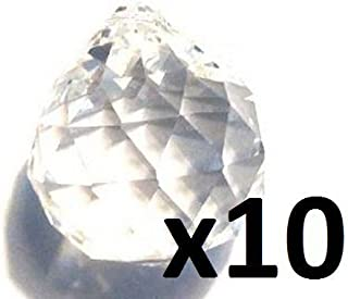 Asfour Lot of 10-40mm Feng Shui Crystal Balls #701-40