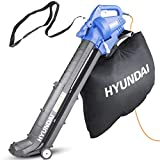 Hyundai HYBV3000E 3 in 1 3000W Electric Leaf Blower Vacuum & Shredder Lightweight & Powerful Long 12 Meter Cable, Large 45L Bag, Variable Speed, Telescope Chute 3 Year Warranty