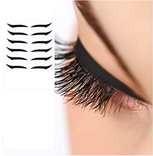 OETN Autocollants réutilisables pour Eye-Liner Maquillage Fard à paupières Visage Cat Eye Smokey Cosmetic Tape Contour instantané, ailé - Couvercle cosmétique - Application Facile et Rapide-6 Paires