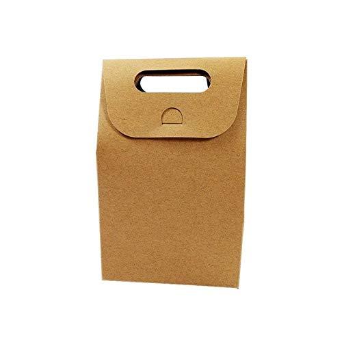 geschenkdoos LKU 50 stuks/partij dessertdoos bruiloft bruine en witte kraft papieren zak blanco verjaardagscadeau doos, bruin