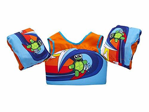 Body Glove 13226-ONE-SRFTRT Kids Paddle Pal Surfer Turtle Learn to Swim Life Jacket