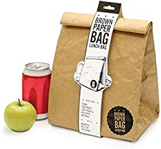 Luckies of London Bag Insulated Lunch Box Reusable Waterproof Thermal Food Container, Brown -