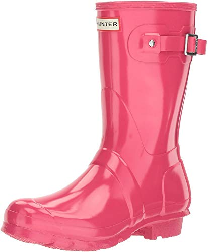 HUNTER Damen WMN ORG Short Gloss Gummistiefel, Pink (Bright Pink Rbp), 37 EU