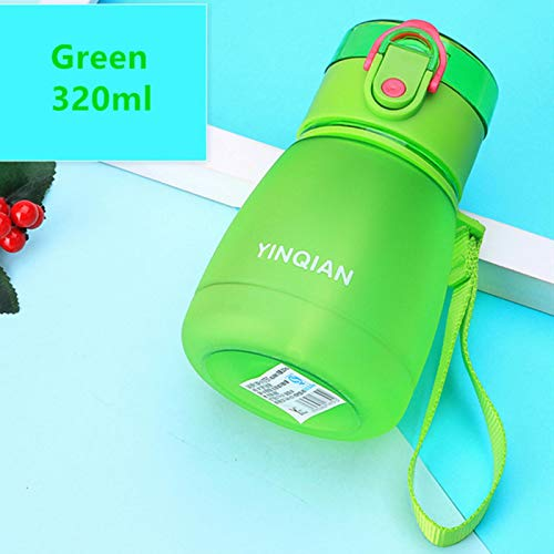 UKKD Water Bottle With Straw 320Ml/650Ml Cute Water Bottle With Straw Bpa Free Automatic Lid Outdoor Sport Kids Children Drink Bottles