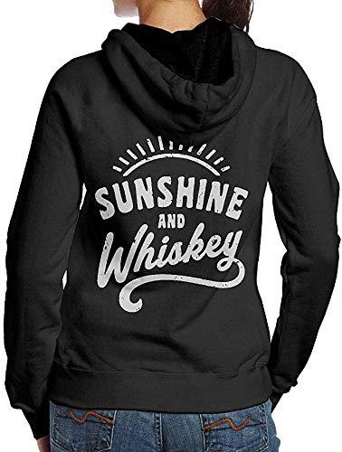 RtOnbra Sunshine and Whiskey Retro Adult Women's Fall Hoodie Sweatshirt
