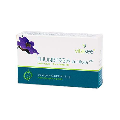 THUNBERGIA laurifiolia 300 Extrakt, 60 vegane Kapseln mit hochdosiertem Thunbergia laurifolia Extrakt Pulver