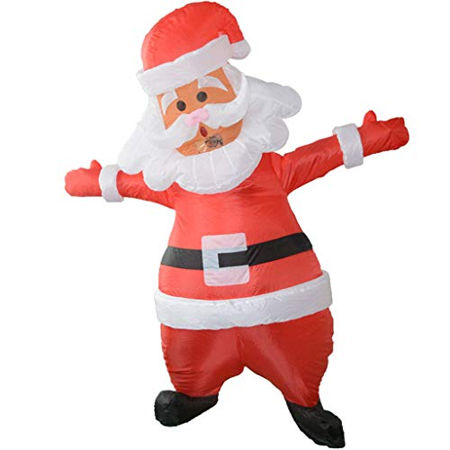 Disfraz de Papá Noel hinchable para adultos, actividades de educación de disfraces de Lifet 40 x 30 x 2 cm rojo
