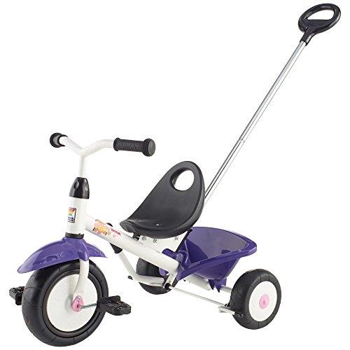 Kettler Funtrike Pablo - Il Triciclo Fresco con Barra di Spinta per i Bambini dai 2 Anni - Colori: Bianco e Viola - Triciclo con Asta di Spinta - Numero Oggetto: 0T03025-0030