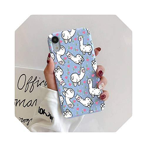 Alpaca - Carcasa para iPhone 11 Pro Max X XS Max XR Candy Color Soft Cover para iPhone 7, 8, 6 y 6S Plus