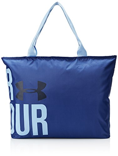 Under Armour, Ua Big Word Mark Tote, Borsa, Donna, Blu (Royal/Mediterranean/Midnight Navy 400), Taglia Unica
