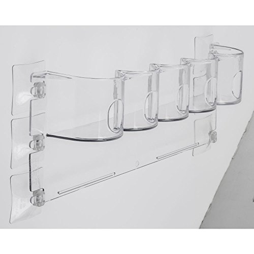 Refrigerator Cooler Door Beverage Rack Clear Polycarbonate - 15-1/4 L x 2-1/2 W x 5-1/2 H
