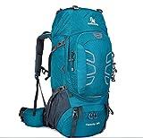 CSPFAIZA 60L Mochila Al AireLibre Plegable Ultraligero Mochila Impermeable PortáTil De Viaje Adecuada para El Ocio, Camping,Escalada en Roca, Hombre y Mujer,Blue