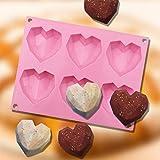 Kuchenform Silikon, Herzförmige Kuchen-Silikonform Gugelhupfform mini Backformen Set...