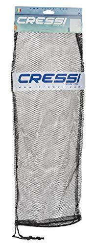 Cressi Net Bag for Snorkeling Scuba Freediving Sets  Mask Snorkel Fins Equipment Mesh Bag Black 295 x 106 in 75 x 275 cm BZ175003