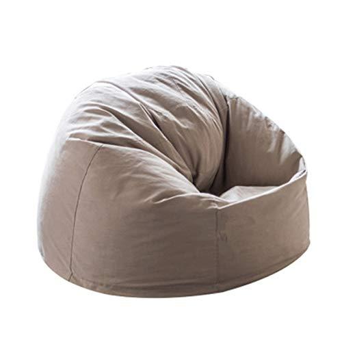 Bolsa De Frijoles Sofá Sillas Lazy Bean Bean Bag Cubierta Para Home Garden Lounge Sala De Estar Para Adultos Y Niños Muebles Ideales Para El Dormitorio ( Color : Off-white , Size : 100x100x60cm )