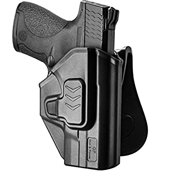 M&P Shield 9mm Holster OWB Holster Fit Smith&Wesson M&P 9mm/.40  Shield M&P 9mm/.40  M2.0 Shield .40 S&W 3.1   Barrel Model Paddle Holster for Outside Waistband 360 Degrees Adjustable-Right Hand