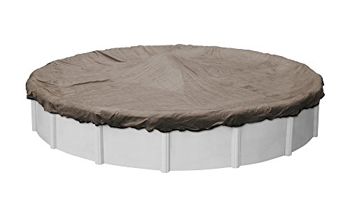 of mesh pool covers Pool Mate 4324-4-PM Extreme-Mesh Winter Round Above-Ground Pool Cover, 24-ft, 5. XL Taupe