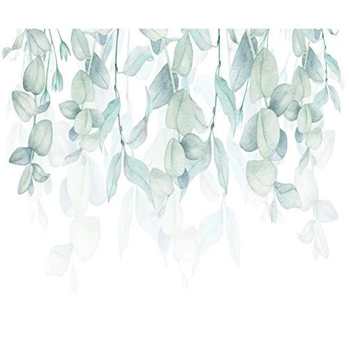decomonkey Fototapete Pflanzen Natur 350x256 cm XL Tapete Fototapeten Vlies Tapeten Vliestapete Wandtapete moderne Wandbild Wand Schlafzimmer Wohnzimmer Blätter Tropisch