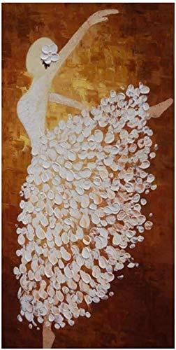 """Surfilter Impresión en lienzo Pintura al óleo abstracta moderna Carteles e impresiones Arte de la pared Cuadros de bailarina abstracta para la decoración de la sala de estar 19.6""""x 39.4"""" (50x100"""
