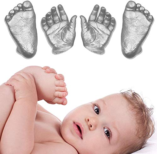 Thrivinger Baby Casting Kit, Large Baby Hand and Foot Casting Kit, 3D Plaster Handprints Footprints Baby Hand Foot Casting Kit, DIY Keepsake Gift