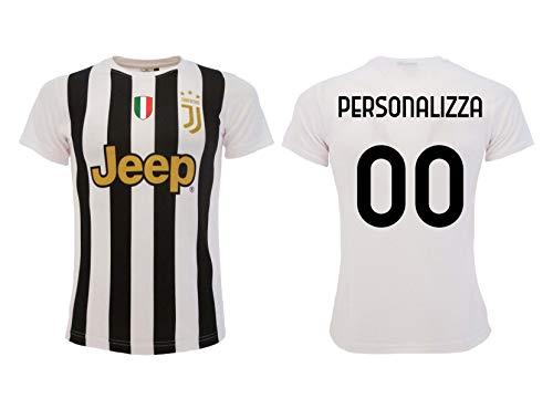 Maglia Juventus Bianconera Personalizzata 2020 2021 Replica Ufficiale Autorizzata Personalizzabile con Nome E Numero (L)