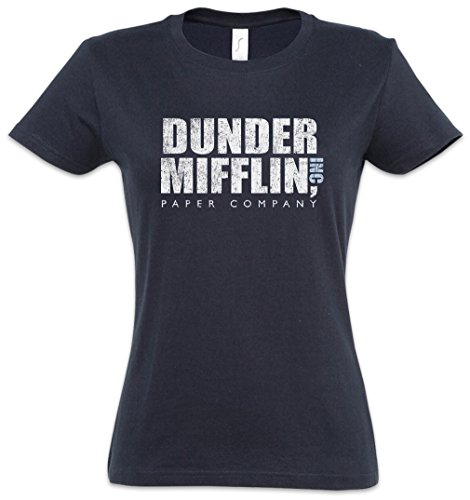 Urban Backwoods Dunder Mifflin Inc Damen T-Shirt Blau Größe L