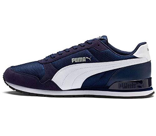 Puma Herren ST Runner v2 Mesh Sneaker, Blau Peacoat White, 37.5 EU