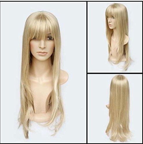 Perücke Blond Glatt 60cm wie Echthaar NEU - HR-A0450