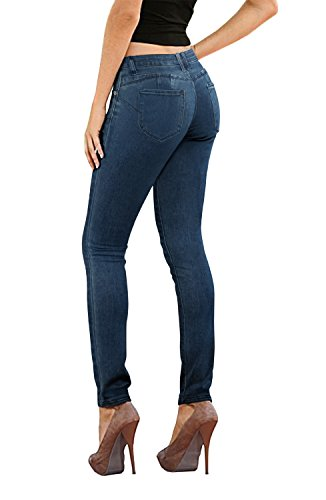 Women's Butt Lift Stretch Denim Jeans P37369SK Darkwash 5