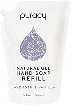 Puracy Lavender & Vanilla Natural Gel Hand Soap Refill, 64 Ounce