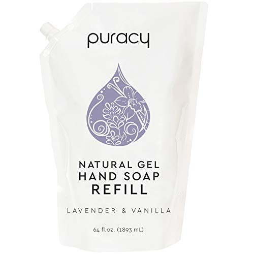 Puracy Gel Hand Soap Refill, Lavender & Vanilla, 64 Ounce, Moisturizing Natural Liquid Hand Wash