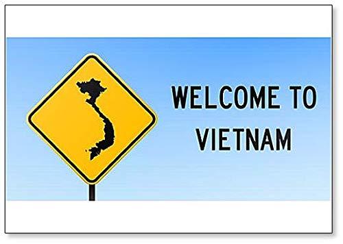 Vietnam Map on Road Sign Illustration Koelkast Magneet