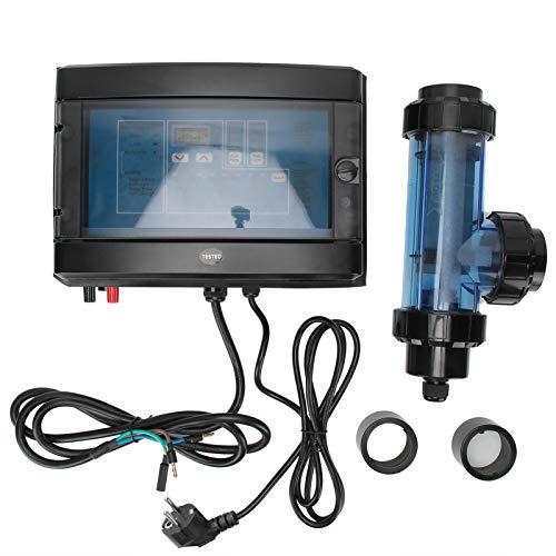 MáQuina de Cloro Salino, Generador de Cloro de Agua, ElectrolíTico Generador de Cloro Clorador de Sal Equipo de Tratamiento de Agua Sistema de Filtro de Piscina de Agua Salada(Enchufe de la UE 220 V)