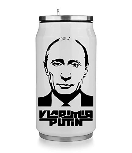 NoMoreFamous Vladimir Putin Portrait Face Thermobecher Thermal Beverage Can Thermotasse Thermal Tasse Coffee Mug