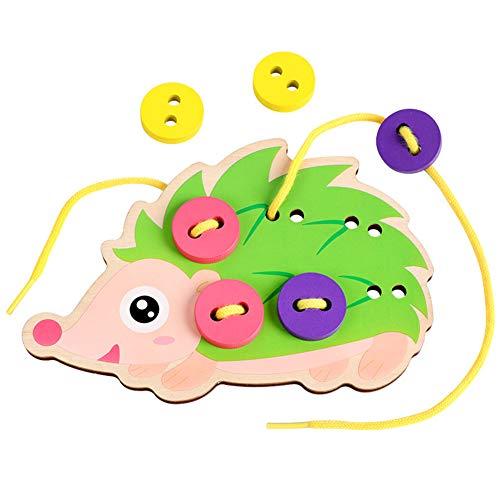 Sanwood Manuelles EinfäDeln NäHen Brettspiele Cartoon Hedgedog Kleid Kinderspielzeug Hedgedog