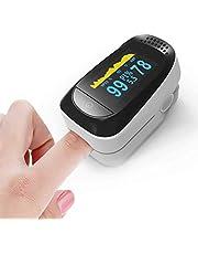 جهاز مراقبة اللياقة البدنية لأطراف الأصابع 4 في 1، شاشة مع P R و PS02، مراقب دقة ضربات القلب وقياس SpO2 (أبيض-أسود)