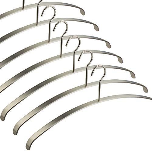 10 Stück Kleiderbügel echt Edelstahl 455 x 20 x 185 mm Garderobenbügel Bügel für Garderobe von SO-TECH