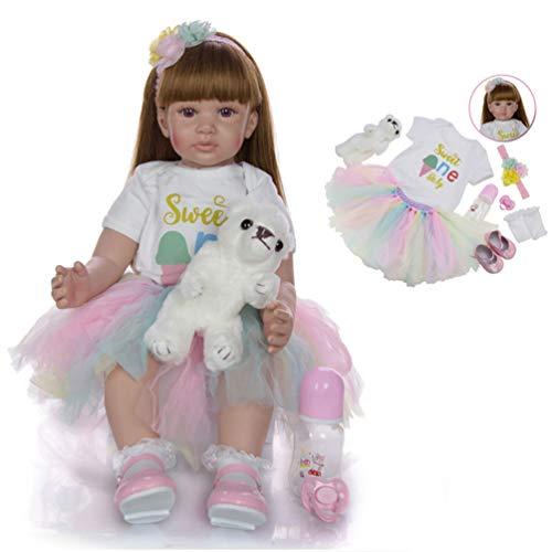 Zaoyun Bambole del bambino rinato 24 pollici 60cm morbido silicone reborn baby girl bambola di stoffa del corpo vita reale come guardare bambole neonato giocattolo del bambino di natale regalo (I)