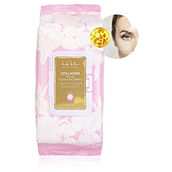 Nicole Miller Collagen Facial Cleansing Wipes and Makeup Remover Wipes - 60 Count