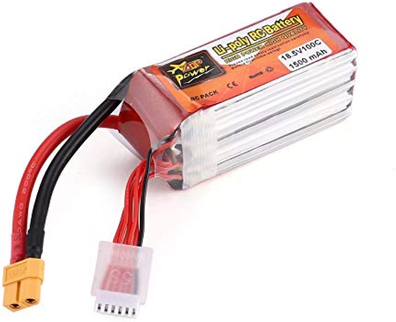 ZOP Power 18.5V 1500mAh 100C 5S 1P Lipo Battery XT60 Plug for RC Drone Model
