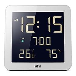 Braun BNC014WH Temperature/Humidity Quartz Wall Clock