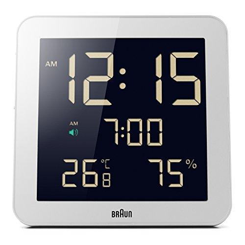 Braun BNC014WHWH Despertador, Blanco;Braun - BNC014WH - Réveil - Digitale