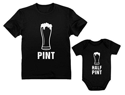 Pint & Half Pint Baby Bodysuit & Men's Shirt