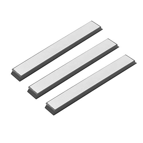KKmoon 3 STÜCKE Schleifstein Set 240 Körnung 600 Körnung 1000 Körnung Suite, Ti-beschichteter Diamant-Winkelschneider