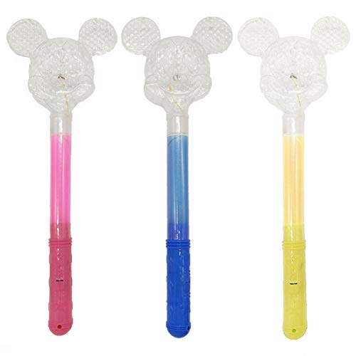 3 Pcs LED Light_Up Princess Wand Flashing Mickey Mouse Toy Glow Sticks Magic Princess Wand for Birthday Party