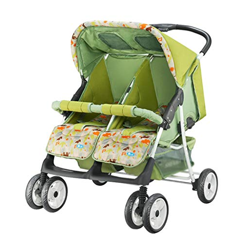 For Sale! Stroller Baby Twin Stroller Buggy Pushchair- Double Stroller,Side by Side Double Pushchair...
