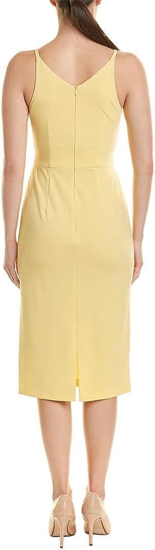 Donna Morgan Women's Deep V-Neck Crepe Dress