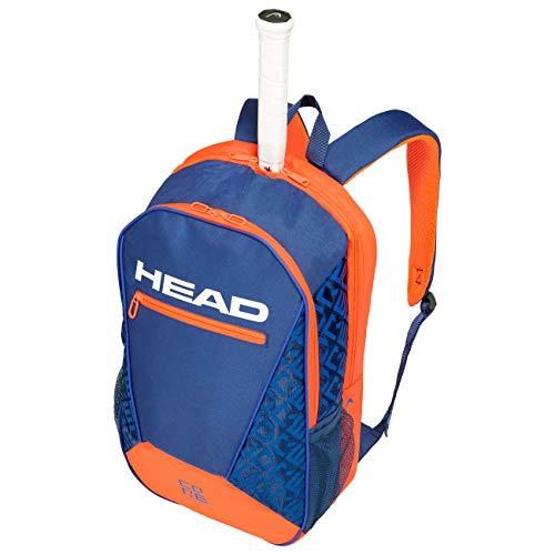 HEAD Unisex-Erwachsene Core Backpack Tennistasche, Blue/orange, Einheitsgröße