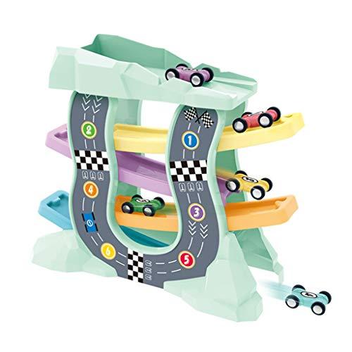 Siyushop De La Petite Enfance Jouets for Enfants Inertie Piste Trolley 1-3-6 Ans Boy Gliding Parking for Voitures d'enfants Jouets