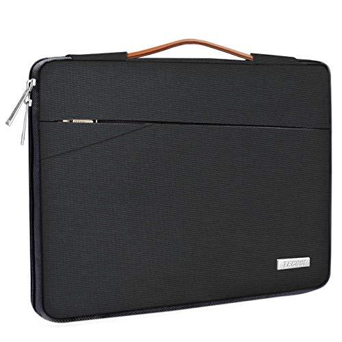 TECOOL 14 Zoll Laptop Hülle Tasche Notebook Aktentasche Stoßfestes Tragetasche Schutzhülle mit Fronttasche für 14 Zoll Acer/Asus/Dell/HP/Huawei/Lenovo Notebooks Ultrabooks Netbooks, Schwarz